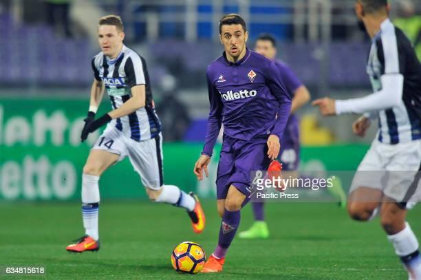 Acf Fiorentina's Matias Vecino in action during the Italian serie A soccer match Acf Fiorentina vs Udinese at Artemio Franchi Stadium ACF Fiorentina...