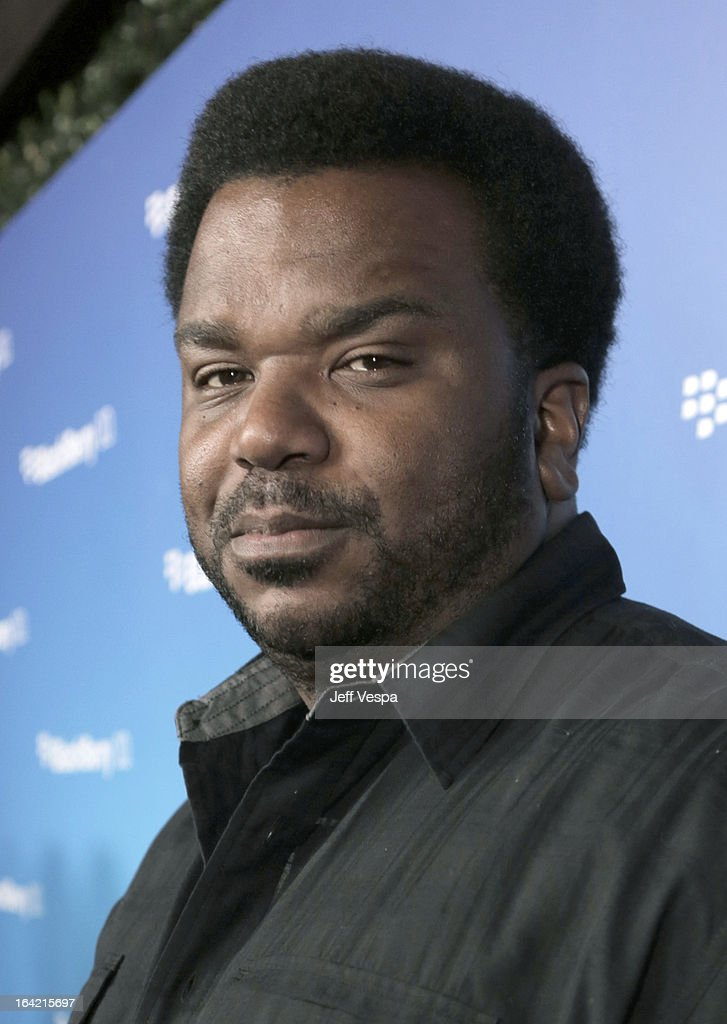 Acgtor Craig Robinson attends a celebration of the BlackBerry Z10 Smartphone launch at Cecconi's Restaurant on March 20, 2013 in Los Angeles, California.
