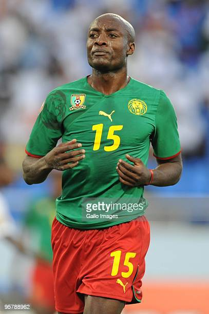 Achille Webo of Cameroon during the Africa Cup of Nations match between Cameroon and Gabon from the Alto da Chela Stadium on January 13 2010 in...