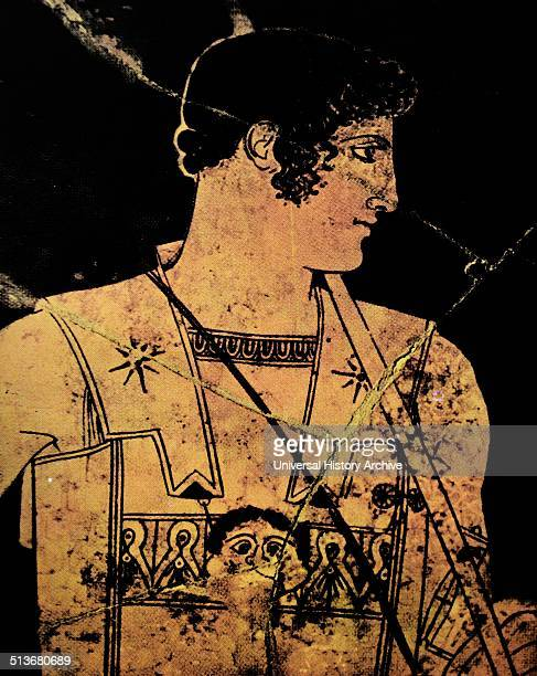 Achilles Detail of an amphora from Vulci in Etruria by the Achilles Painter Red figure style 445440 BC Achilles is presented in full figure standing...