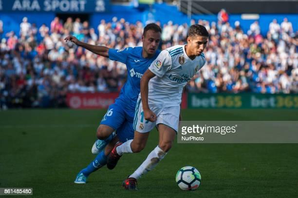Achraf Hakimi Cala during the match between Getafe CF vs Real Madrid week 8 of La Liga 2017/18 in Coliseum Alfonso Perez Getafe Madrid 14th of...