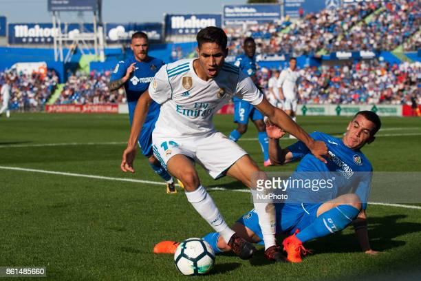Achraf Hakimi during the match between Getafe CF vs Real Madrid week 8 of La Liga 2017/18 in Coliseum Alfonso Perez Getafe Madrid 14th of october 2017