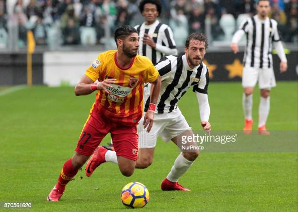 Achraf Lazaar during Serie A match between Juventus v Benevento in Turin on november 5 2017