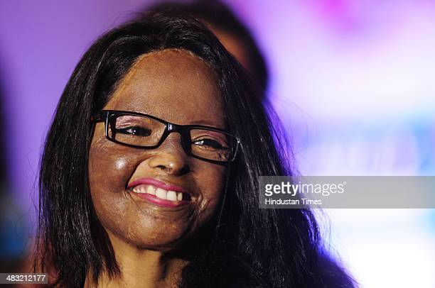 Acid attack survivor and the special guest for the event Laxmi during HT WOMEN 2014 award ceremony on April 3 2014 in Lucknow India Laxmi was...