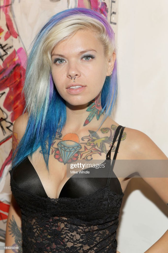 Ackley Suicide attends 'Rehming Out LA' by N.Y artist Eddie Rehm and Gloria Delson Contemporary Arts on October 10, 2013 in Los Angeles, California.
