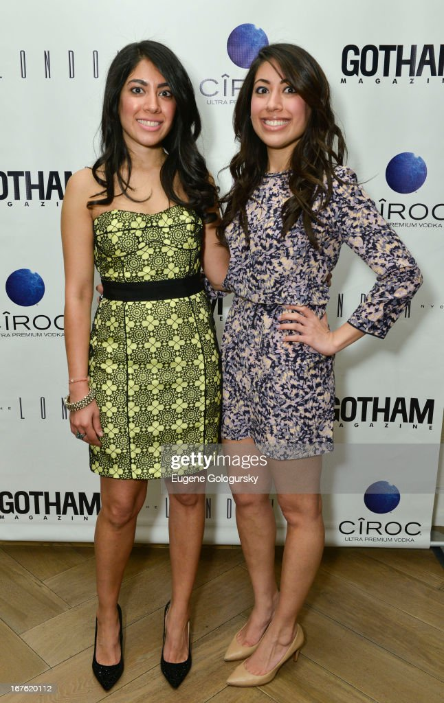 Acliti Malhotra and Anika Malhotra attend the Gotham Magazine Celebration with Cover Star Isla Fisher with Ciroc Vodka on April 26, 2013 in New York City.