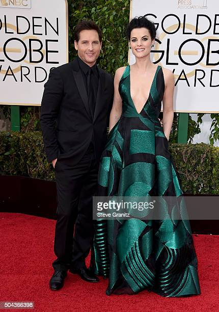 Acor Peter Facinelli and actress Jaimie Alexander attend the 73rd Annual Golden Globe Awards held at the Beverly Hilton Hotel on January 10 2016 in...