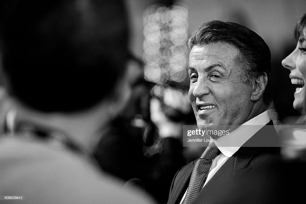 Acor <a gi-track='captionPersonalityLinkClicked' href=/galleries/search?phrase=Sylvester+Stallone&family=editorial&specificpeople=202604 ng-click='$event.stopPropagation()'>Sylvester Stallone</a> arrives at the presentation of the Montecito Award for The 31st Santa Barbara International Film Festival at the Arlington Theatre on February 9, 2016 in Santa Barbara, California.