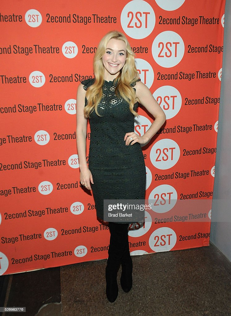 Acotr Betsy Wolfe attends 'Dear Evan Hansen' Off-Broadway opening celebration at Second Stage Theatre on May 1, 2016 in New York City.