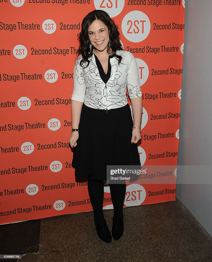Acotr Lindsay Mendez attends 'Dear Evan Hansen' Off-Broadway opening celebration at Second Stage Theatre on May 1, 2016 in New York City.