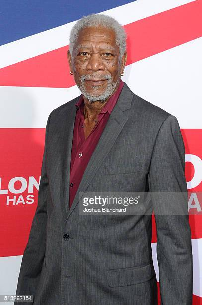 Acotr Morgan Freeman arrives at the premiere of Focus Features' 'London Has Fallen' at ArcLight Cinemas Cinerama Dome on March 1 2016 in Hollywood...