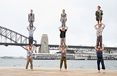 Acrobats Perform On Sydney Harbour As Part of Sydney...