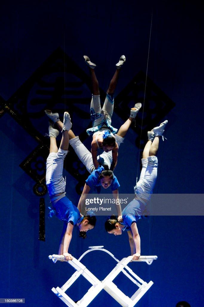 Acrobats at Shanghai Centre Theatre.