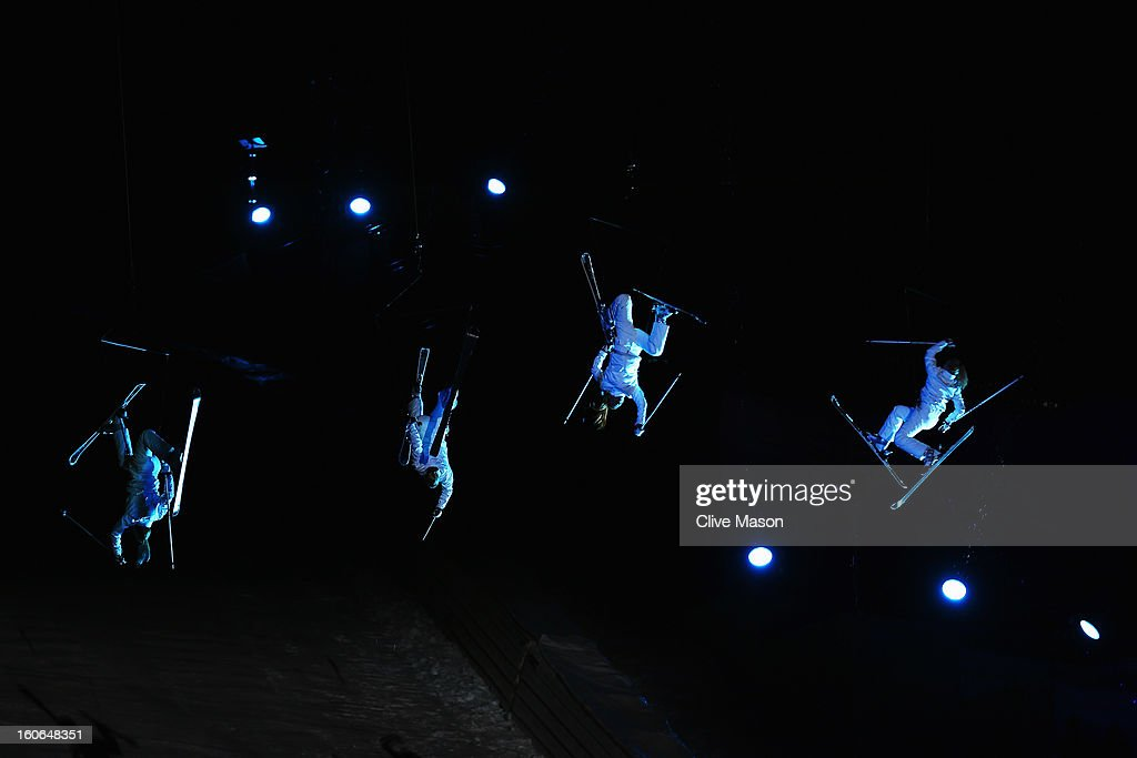 Acrobats perform during the opening ceremony for the Alpine FIS Ski World Championships on February 4, 2013 in Schladming, Austria.