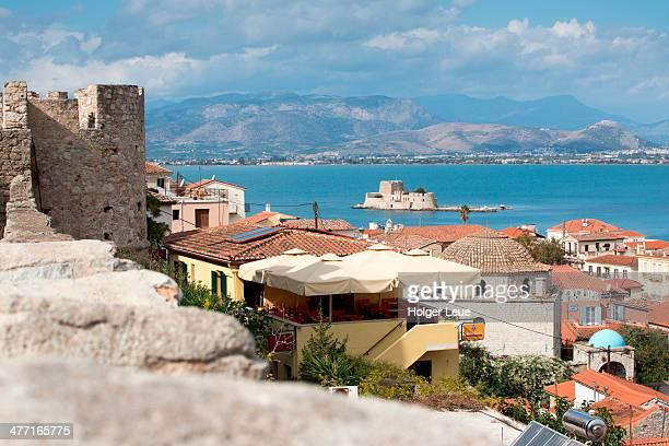 Acronauplia wall, Old Town and Bourdzi Fort