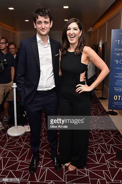 Acrors Zach Woods and D'Arcy Carden attend the premiere of Vertical Entertainment's 'Other People' at The London West Hollywood on August 31 2016 in...