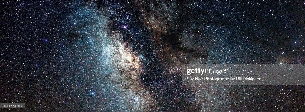 Across the Milky Way galaxy : Stock Photo