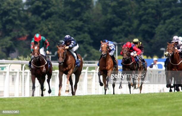 Acrostic ridden by Christophe Lemaire goes on to win the Coral Challenge Heritage Handicap during the CoralEclipse Day at Sandown Racecourse Surrey