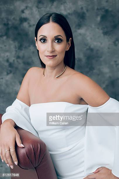 Acrtress Angelique Cabral poses for a portrait at the 18th Costume Designers Guild Awards at The Beverly Hilton Hotel on February 23 2016 in Beverly...