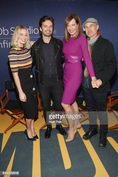Acrtress Margot Robbie actor Sebastian Stan actress Allison Janney and director Chraig Gillespie of 'I Tonya' attend The IMDb Studio Hosted By The...