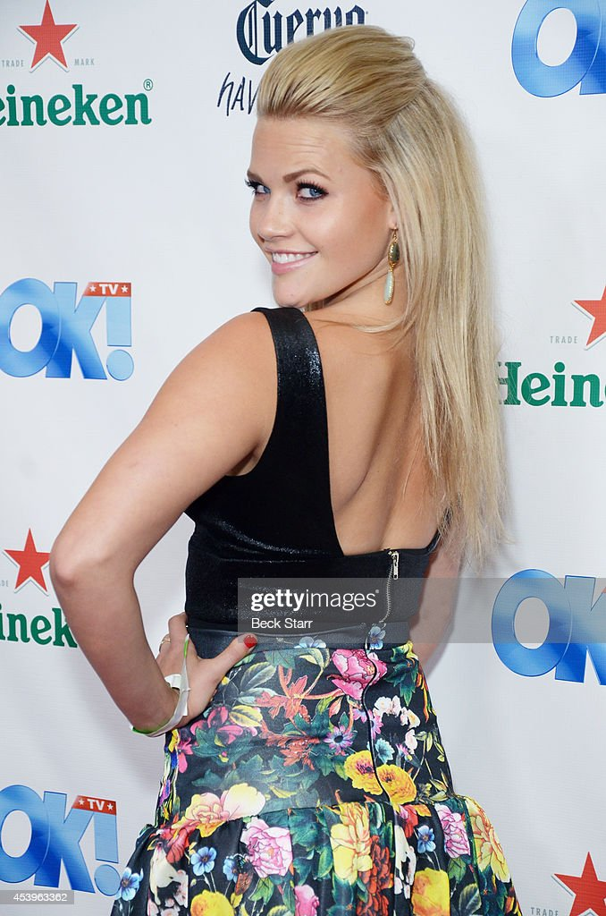 Acrtress Witney Carson arrives at OK! TV Emmy pre-awards party honoring the Emmy nominees and presenters at Sofitel Hotel on August 21, 2014 in Los Angeles, California.