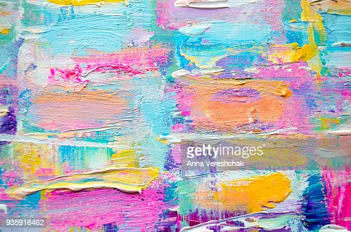Acrylic painting on canvas. Color texture. : Stock Photo