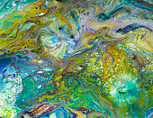An example of acrylic pour art - created by the photographer.