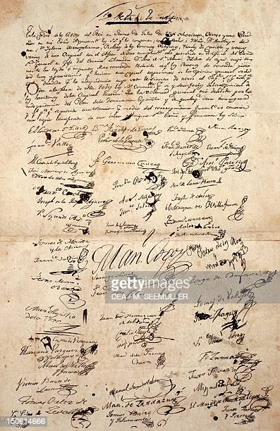 Act of Independence signed July 15 1821 in the Lima town hall Peru 19th century