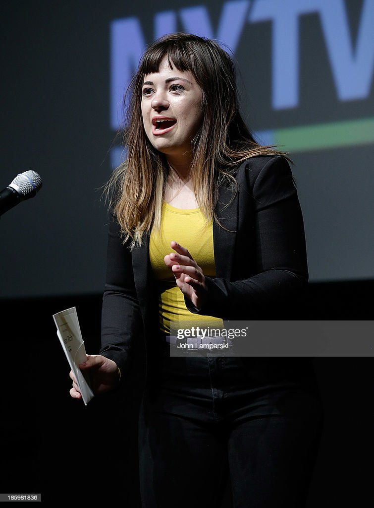 Acteess Alison Rich accepts the Best Actress Award for 'Incognito' during the 9th Annual New York Television Festival - Awards Ceremony at SVA Theater on October 26, 2013 in New York City.