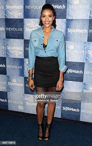 Acterss Annie Ilonzeh ezattends the People StyleWatch Denim Event at The Line on September 18 2014 in Los Angeles California