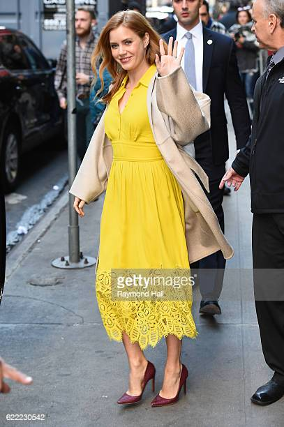 Actess Amy Adams is seen on the set of 'Good Morning America' on November 10 2016 in New York City