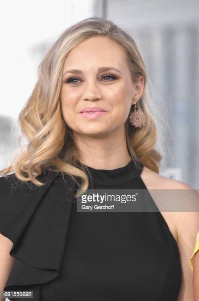Actess Fiona Gubelmann of 'Daytime Divas' attends the NASDAQ opening bell at NASDAQ on June 2 2017 in New York City