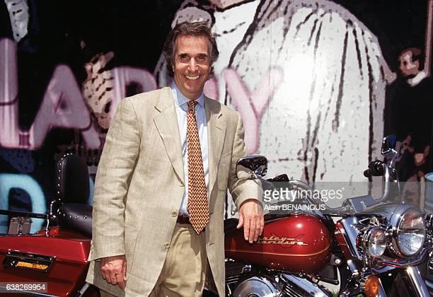 L'acteur Henry Winkler héros de la série 'Happy Days' au Festival de télévision le 2 juillet 1996 à Nice France