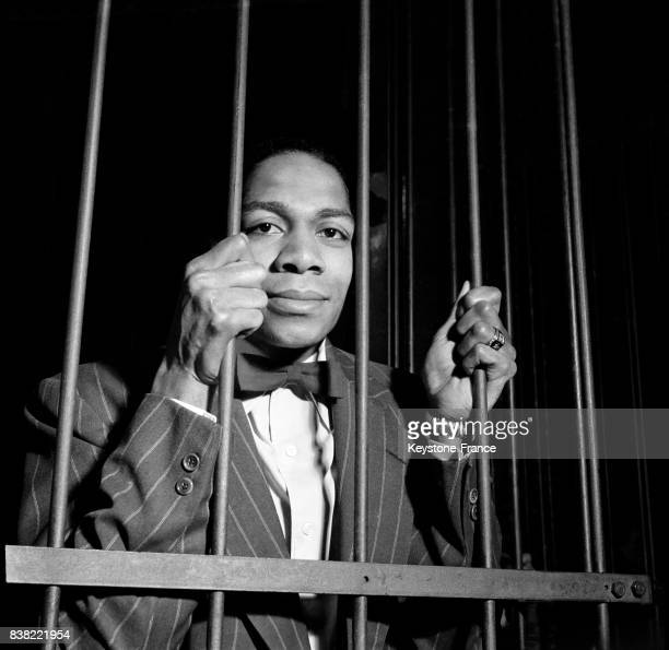 L'acteur noir américain Walter Bryant principal interprête photographié lors d'une séquence du film de Charles Brabant et Marcello Pagliaro à la...