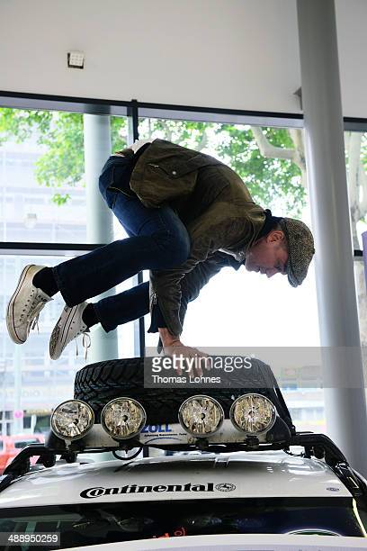 Acteur Ralf Bauer poses on May 8 2014 in Frankfurt am Main Germany Together with the german charity 'Childaid Network promotes Land Rover education...