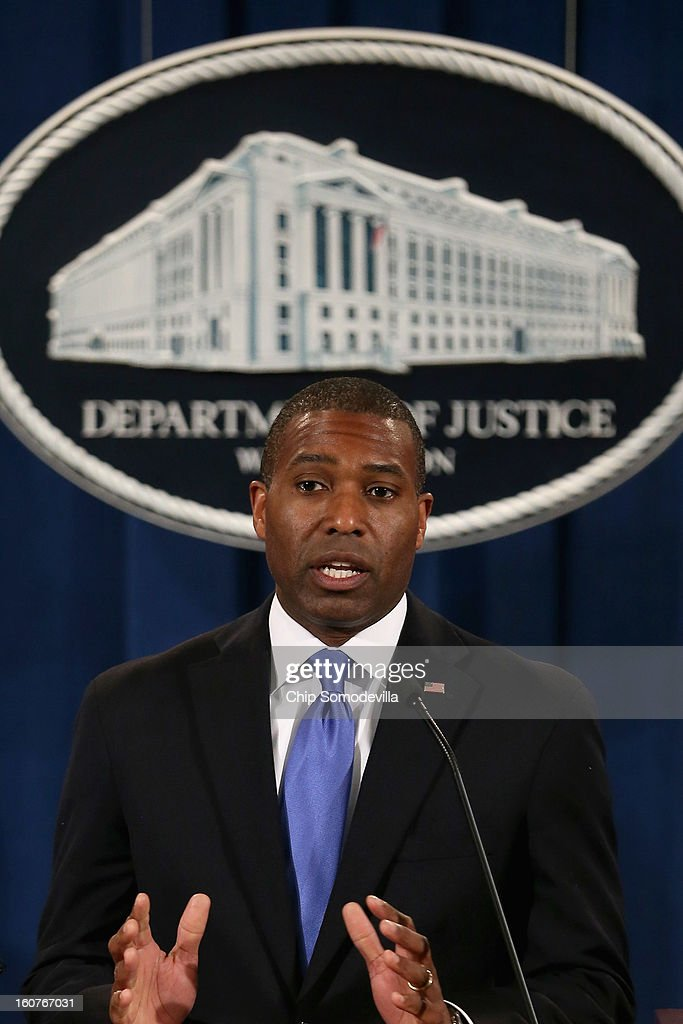 U.S. Acting Associate Attorney General Tony West speaks during a news conference with attorneys general from eight states and the District of Columbia at the Department of Justice February 5, 2013 in Washington, DC. U.S. Attorney General Eric Holder announced that the United States is bringing a civil lawsuit against the ratings agency Standards & Poor's and its parent company, McGraw-Hill Companies, over its pre-fiscal crisis bond ratings.