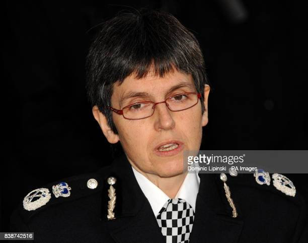 Acting Deputy Metropolitan Police Commissioner Cressida Dick reads a statement to the media outside the Old Bailey in central London following the...