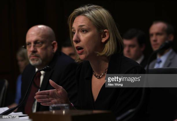 Acting Director of Homeland Security's Office of Intelligence and Analysis Cyber Division Sam Liles and Homeland Security Undersecretary Jeanette...