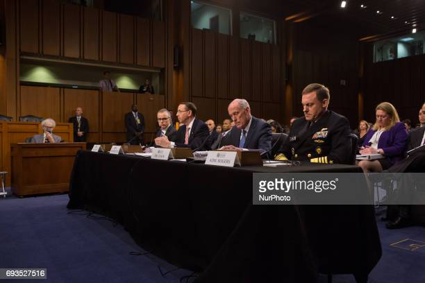 Acting FBI Director Andrew McCabe Deputy Attorney General Rod Rosenstein Director of National Intelligence Dan Coats and National Security Agency...