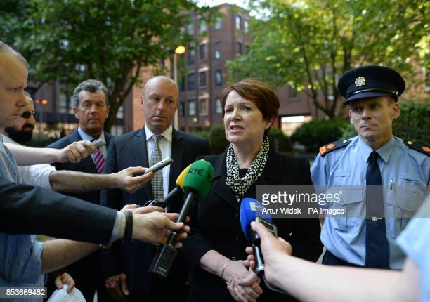 Acting Garda Commissioner Noirn O'Sullivan speaking following the release of a report into the circumstances surrounding two Roma children being...