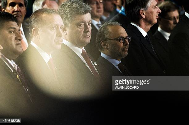 Acting High commissioner of Tonga Sione Sonata Tupou Turkey's Prime Minister Recep Tayyip Erdogan Ukrainian President Petro Poroshenko UAE's Minister...