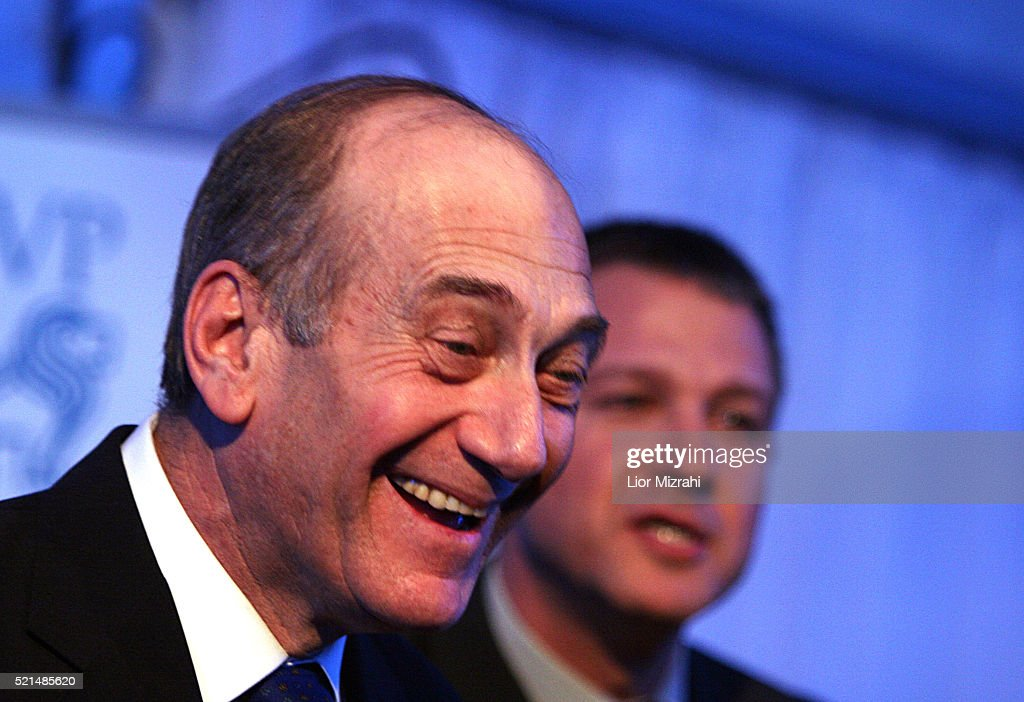 Acting Israeli Prime Minister <a gi-track='captionPersonalityLinkClicked' href=/galleries/search?phrase=Ehud+Olmert&family=editorial&specificpeople=178946 ng-click='$event.stopPropagation()'>Ehud Olmert</a> smiles at a ceremony in Jerusalem Tuesday February 28, 2006.