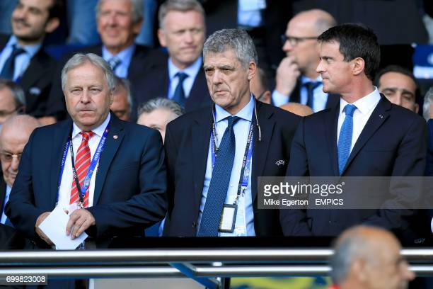 Acting UEFA president Angel Maria Villar in the stands