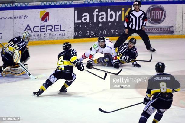 Action Hockey sur glace Rouen / Briancon 1/2Finale Coupe de France Photo Dave Winter / Icon Sport