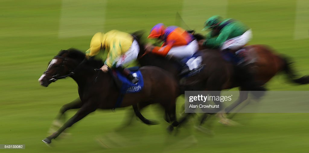 Action at Curragh Racecourse on June 26, 2016 in Kildare, Ireland.