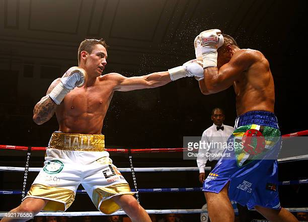 Action between Aston Jolly and Ben Hall during Boxing at York Hall on October 10 2015 in London England