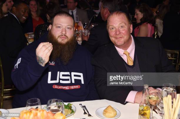 Action Bronson and Mario Batali attend the Food Bank for New York City CanDo Awards Dinner 2017 on April 19 2017 in New York City