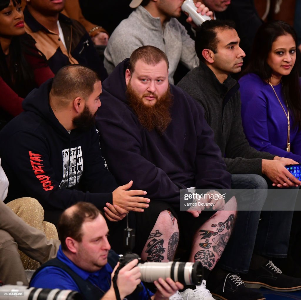 Action Bronson attends the Oklahoma City Thunder Vs New York Knicks game at Madison Square Garden on December 16, 2017 in New York City.