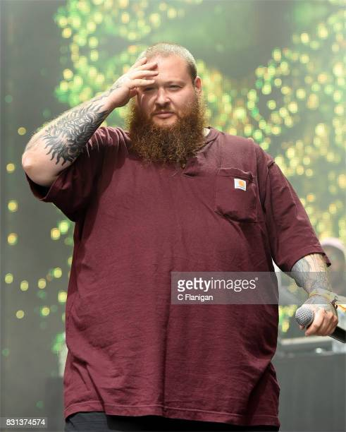 Action Bronson performs during the 2017 Outside Lands Music and Arts Festival at Golden Gate Park on August 13 2017 in San Francisco California