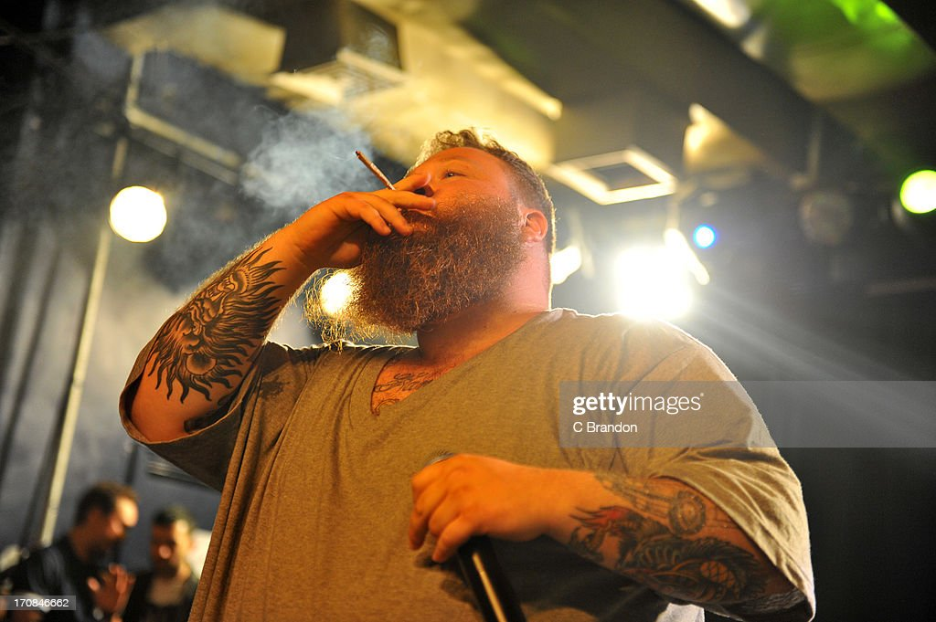 <a gi-track='captionPersonalityLinkClicked' href=/galleries/search?phrase=Action+Bronson&family=editorial&specificpeople=8562662 ng-click='$event.stopPropagation()'>Action Bronson</a> performs on stage at Scala on June 11, 2013 in London, England.